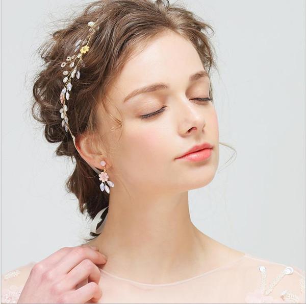 Hair Belt Bride Water Bit Decoration Sweet Pollen Flowers Explosive Hair Jewelry