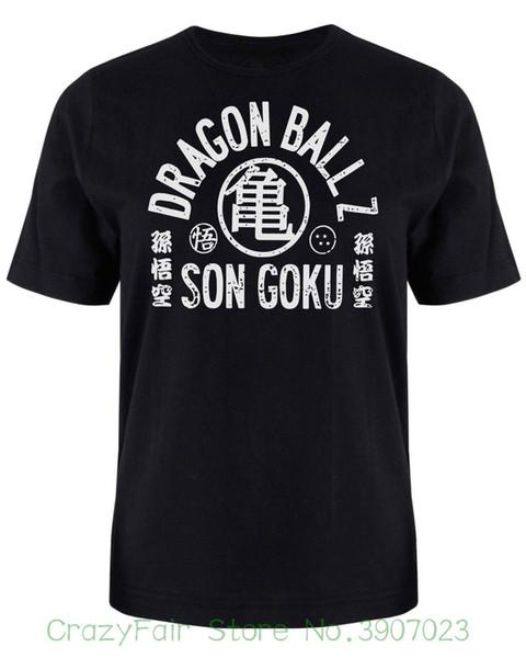 Dragon Son Goku Arched Japan Inspired Men's Anime Cartoon T-shirt Print Casual T-shirt Men Brand