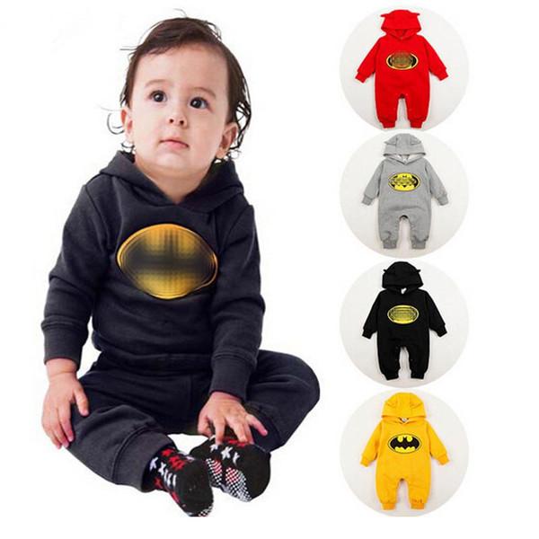 Combinaison Bafman Automne Hiver Cartoon Bébé Vêtements Barboteuse Hoodies Drôle Bambin Bébés Barboteuses Combinaisons avec chapeau rampant costume B11