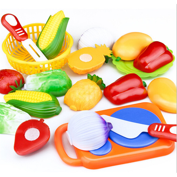 1set enfants Play House Fruit Toy Couper les légumes de cuisine en plastique pour bébé Jouets d'enfants Classique Pretend Playset Jouets éducatifs