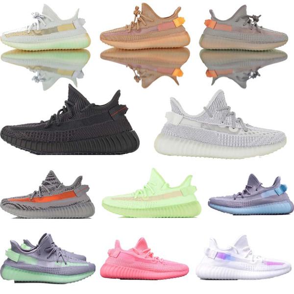 venda bem!! ADIÐAS B0OST 35O V2 Designer Tênis Nova Forma Verdadeira Argila Hyperspace Static Glow Melhor Qualidade Kanye West Das Mulheres Dos Homens Tênis de Corrida