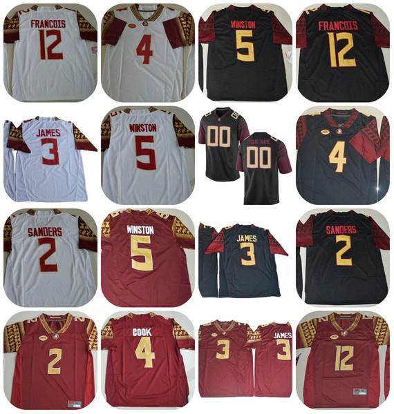 best loved 1f41d ce432 2019 Mens ACC FSU Florida State Seminoles NCAA College Football Jerseys #2  Deion Sanders 3 James 4 Cook 5 Winston 12 Deondre Francois Jersey From ...