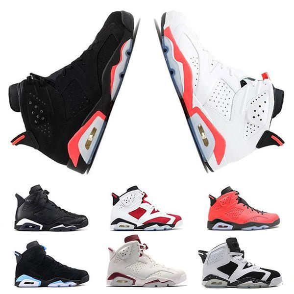 Новое поступление 6 6s мужские баскетбольные кроссовки INFRARED UNC MAROON TINKER HATFIELD BLACK CAT мода роскошные мужские женские дизайнерские сандалии обувь