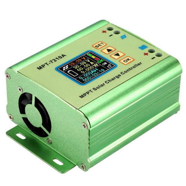 Freeshipping Mppt Solar Panel Battery Regulator Charge Controller With Lcd Color Display 24/36/48/60/72V 10A With Dc-Dc Boost Charge