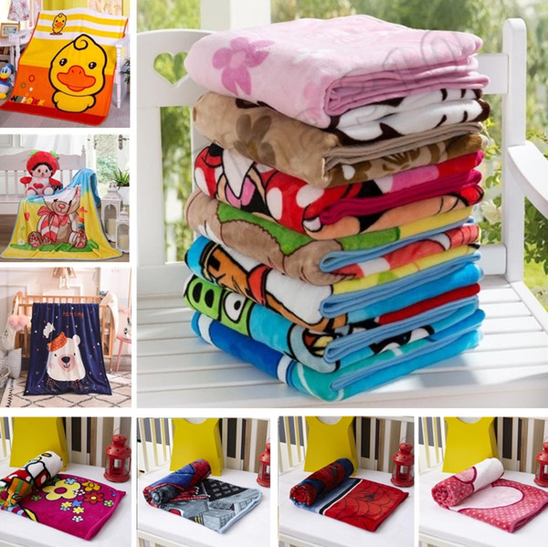 top popular New Kids Blankets Flannel spide bear cat dog Warm cartoon Blankets Smooth Flannel Blankets Baby Beddings Swaddling Blanket 1.0*1.4M 2019