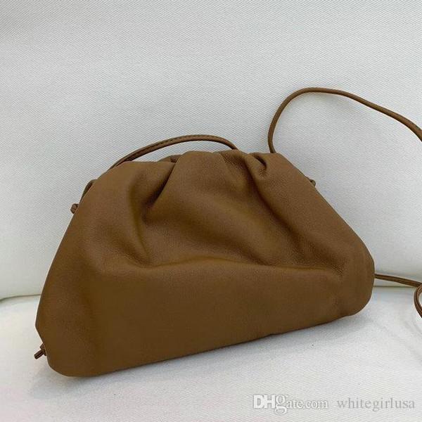 2019 Klasik Deri Çanta klasik Koyun tek omuz çantası el örme bayan çanta küçük bulut çanta yüksek kaliteli gerçek Kadın çantası