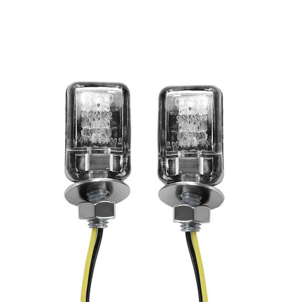 top popular 2X 6 LED Motorcycle Turn Signal Indicator Light Motor Mini Turnning Marker Lamp Universal Street Moto Flasher 12V 2Pcs 2021