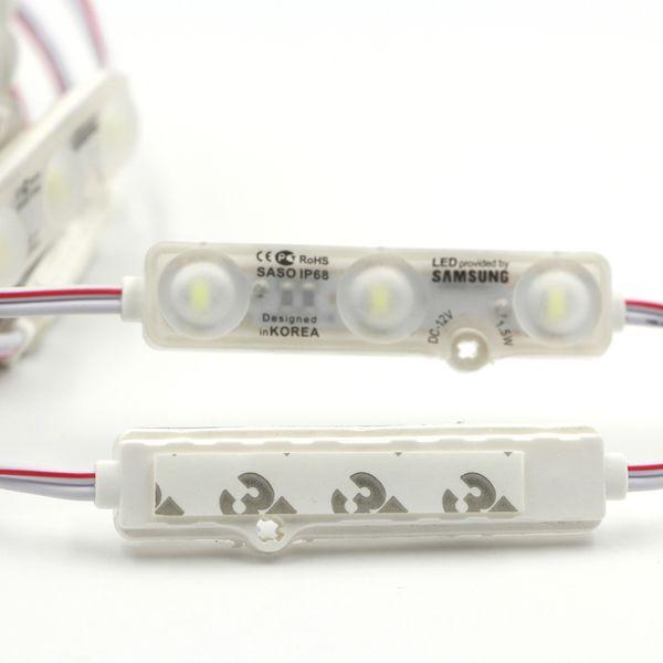 SMD5630 LED Module Injection SAMSUNG Led Modules lentille Led Signe Rétro-Éclairage Manche Lettres Publicitaire Lumière bannière