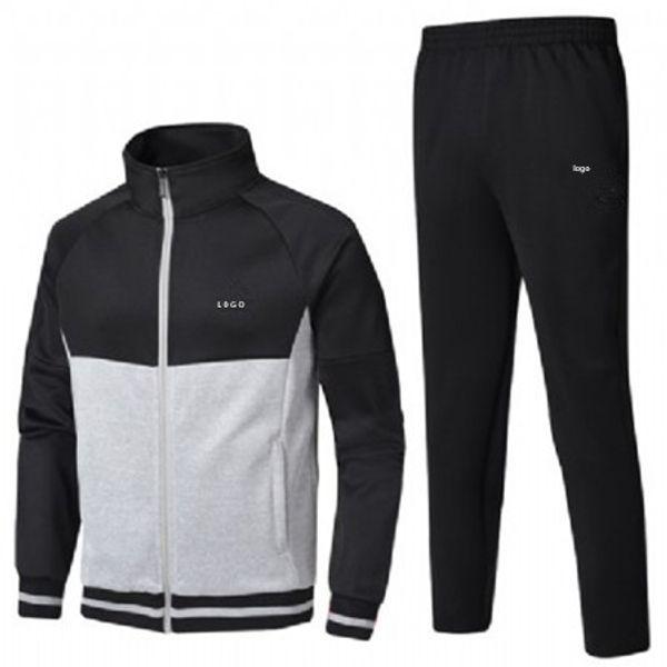 Erkek Tasarımcı Eşofman Rüzgarlık + Pantolon Spor Koşu Seti Koleji Yüksek Sokak Stil Kitleri ile Rahat Moda Takım Elbise Ceket Pantolon QSL198173