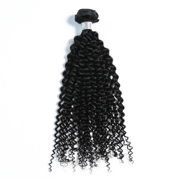 el pelo indio crudo sin procesar al por mayor más milier, pelo rizado indio de la Virgen rizado rizado 100g por pedazo