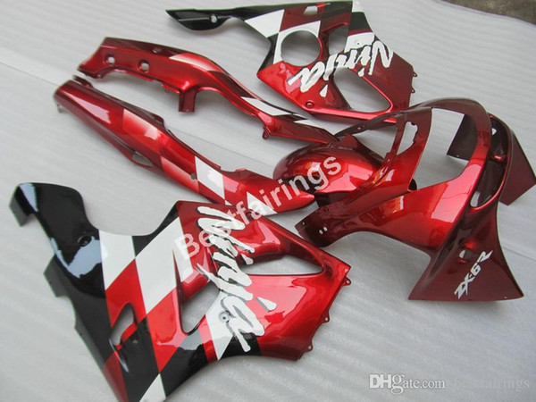 Motorcycle fairing kit for Kawasaki Ninja ZX6R 1994 1995 1996 1997 wine red black fairings set ZX6R 94 95 96 97 MT04