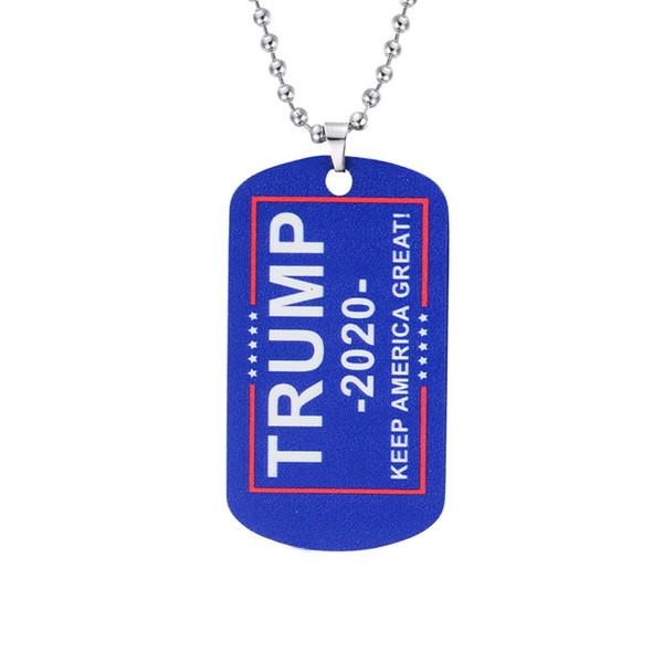 Sıcak tutun Amerika Büyük Yaka Trump Tren Salkım Zinciri N5F ile 2020 Seçim Demokrat Cumhuriyetçi Donald Trump Köpek Etiket kolye kolye