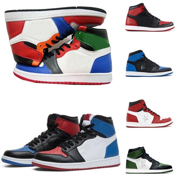 Mann Basketball Schuhe 2019 1 Off OG Top 3 Männer verboten OG Sneakers Mandarin Ente Trainer Herren Sport Sneakers Herren Rabatt Schuhe Größe