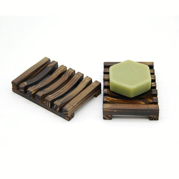 Vintage Wooden Soap Dish Wooden Soap Dishes Tray Holder Storage Soap Rack Plate Box Container for Bath Shower Plate Bathroom 5PCS Free