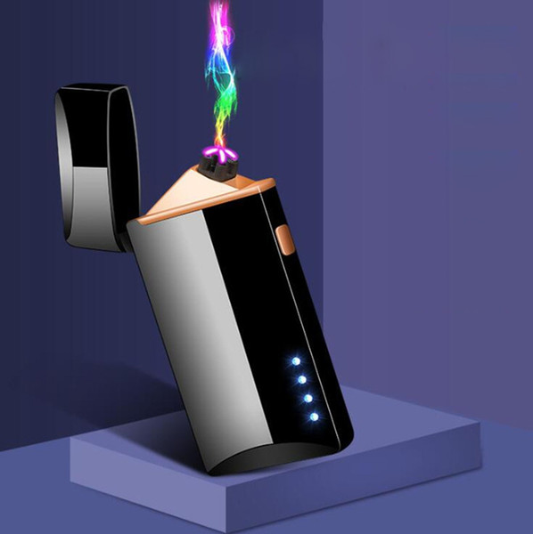 best selling Windproof Colorful USB Cyclic Charging ARC Lighter Portable Innovative Design Touch Sensing For Herb Cigarette Tobacco Smoking Hot Cake DHL