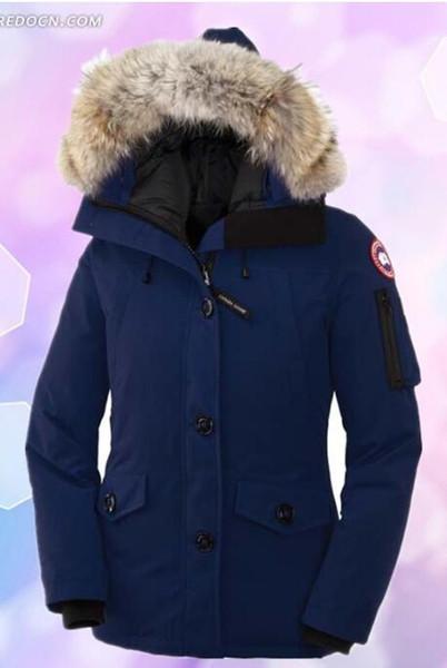 Classic Womens il piumino in inverno Womens Parka Moda traspirante caldo il 90% bianco piumino d'oca di alta qualità cappotto WE3620