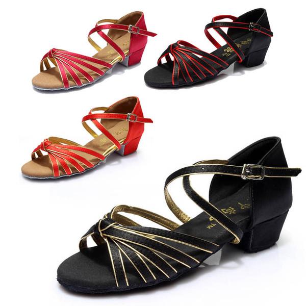 Kind Ballsaal Hallenschuhe Tanzschuhe Latin Tango Für Mädchen Rabatt Marke Schuhe Absatzhöhe 3,5 cm 602a