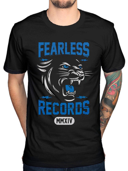 Official Mens Fearless Records Cougar T-Shirt Pop punk Found in Far Away Places
