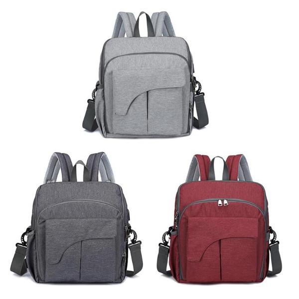 Folding Waterproof Mummy Diaper Bags Handbag Dining Seat Chair USB Port Maternity Nursing Bags Baby Nappy Backpacks