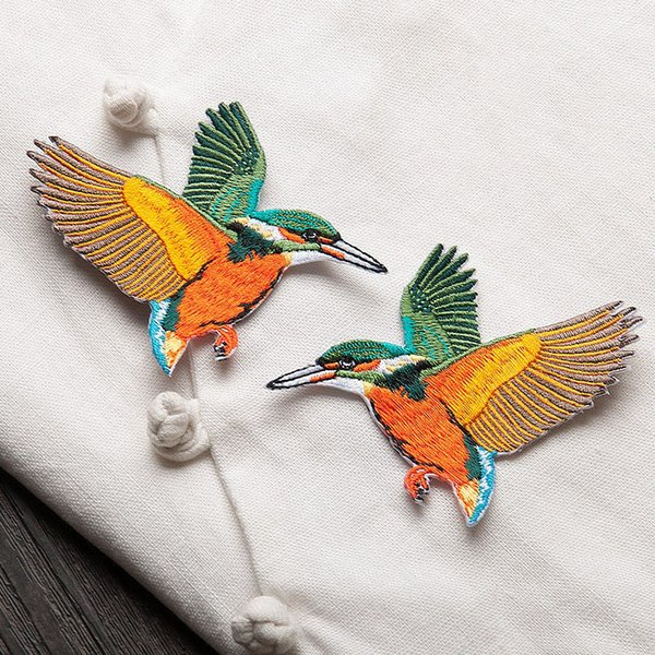 Embroidery Symmetric Birds Patches Fill Small Hole Post Accessories Sew Iron On Applique DIY Craft Clothing Decoration Patch For Jackets