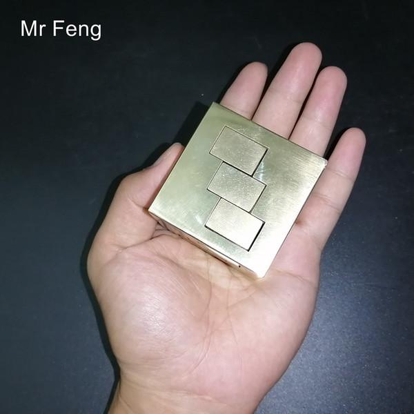 Коллекция Pure Brass Metal 3D Головоломка Игра Медная головоломка Модель Hobby Mind Intelligence Игрушка-головоломка для мозга (номер модели H448)