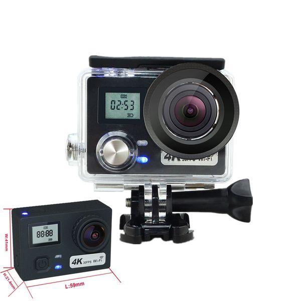AT-N460 Ultra 4K HD 2 inch 170° HDMI WIFI Action Cameras Dual Screen Waterproof Sport Camera+Remote Control DV DVR Helmet Camcorder
