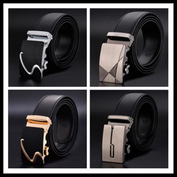 Cintura da uomo in vera pelle fibbia tautomatica moda alta qualità business moda cintura di lusso jeans design di lusso da uomo