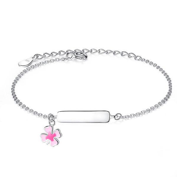 Engrave Name Bracelet Personalized Bracelet For Children Girls 925 Sterling Silver Bracelet Customize Gift for Baby