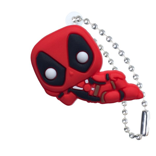 Cool Deadpool Action Figure High Quality PVC Keychain Key Ring Anime Key Chain Fashion Accessories Packed Kawaii Party Favors Kid Gift