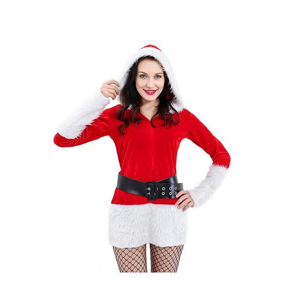 Compre Rojas Del Partido Atractivo Del Vestido De Santa Claus Navidad Del Traje De La Técnica Niñas Vestidos De Lujo De Navidad Ropa Mujer A 6661