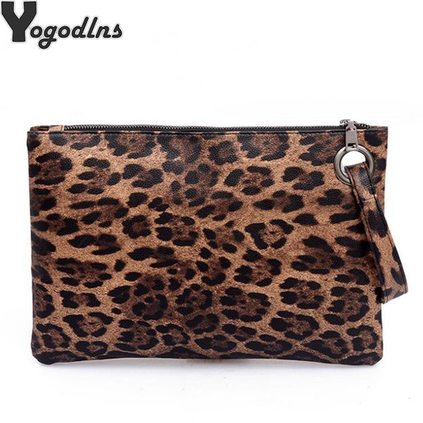 Women Leopard Print Day Clutch PU Leather Zipper women Envelope Bag Clutch Evening Bag Female Handbag Carterasy Bolsos De mujer