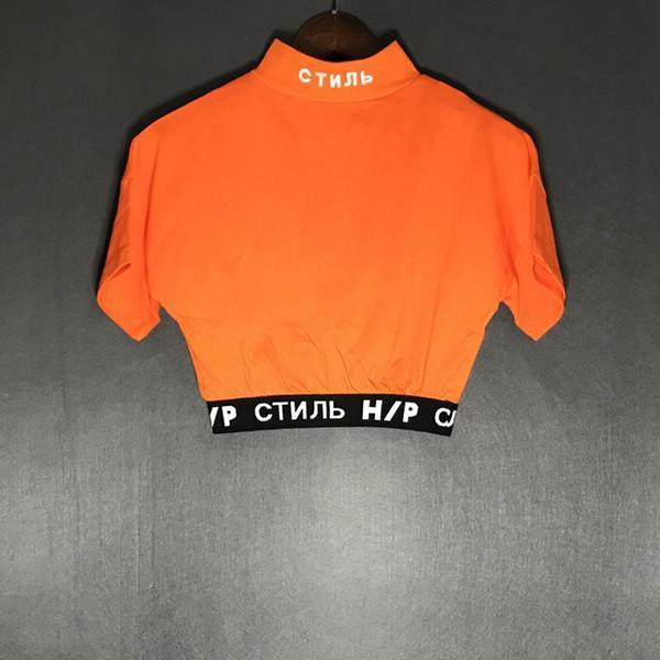 Heron popular europeo y americano Preston ultra corto para mujer del diseñador de las camisetas de la venta caliente Heron puro de algodón camiseta de las mujeres