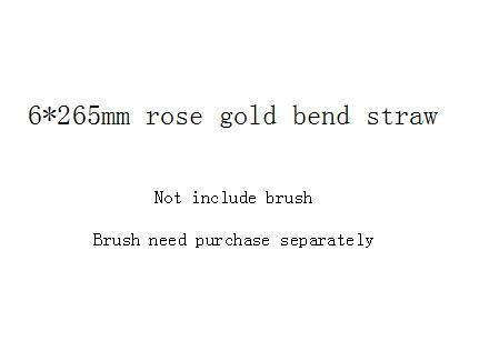 6*265mm rose gold bend straw