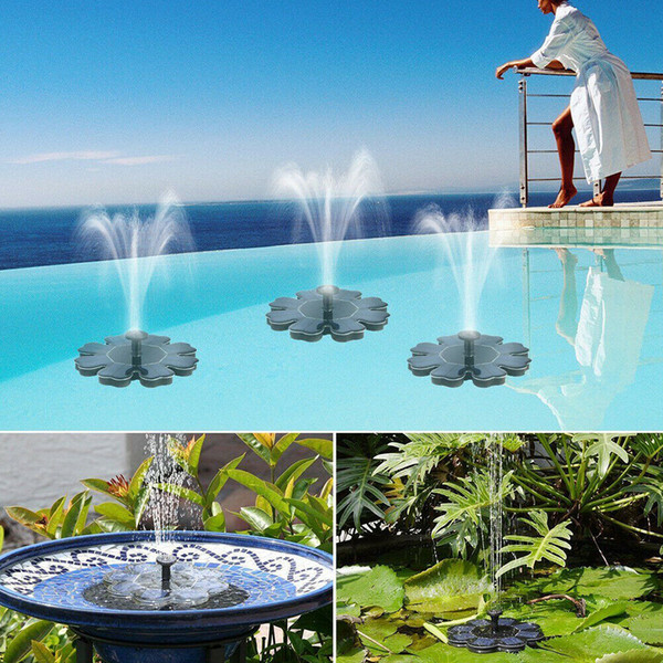 top popular Solar Panel Powered Brushless Water Pump Yard Garden Decor Pool Outdoor Games Round Petal Floating Fountain Water Pumps CCA11698 10pcs 2020