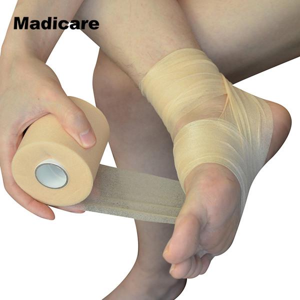 7CMX27M Comprimento Prewrap Atletismo Fita PU Envoltório De Espuma Embrulho Bandagem Faixas de Cabelo Cabeça Laço de Cabelo Headband Fitas de Esportes Patellar