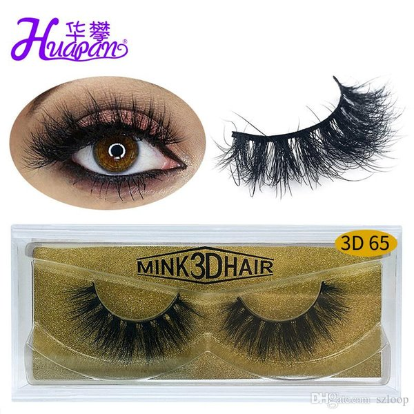 New Brand HUAPAN 3D Mink Eyelashes Eyelashes Eye Lash Extension Sexy Eyelash Full Strip Eye Lashes Gold Package