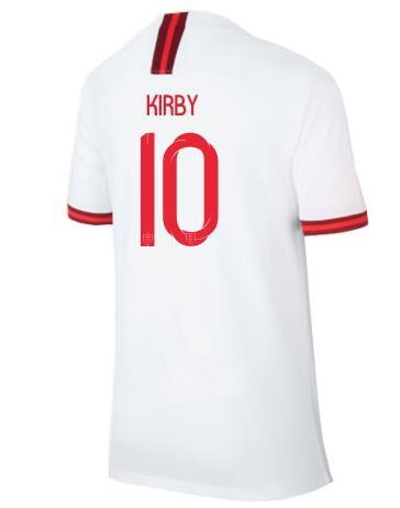 Discount Cheap WM Frauen 19-20 KIRBY # 10 Thai Qualität Trikots trägt, Customized WHITE # 18 TELFORD # 13 WILLIAMSON # 14 DALY Custom Trikot