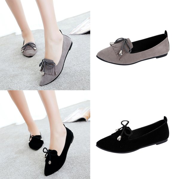 chaussures femmes t nouveau 2019 sapato feminino Spring And Autumn Women's Casual Shoes Shallow Flat-Bottomed Beanshoes #4gh