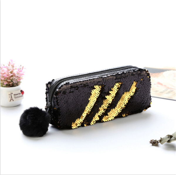 7867c154f676 New Women Bag Lovely Mermaid Sequin Glitter Cosmetic Bag For Lady Pencil  Box Coin Purse Makeup Case Popular Makeup Sale Makeup Train Case From  Caohu, ...