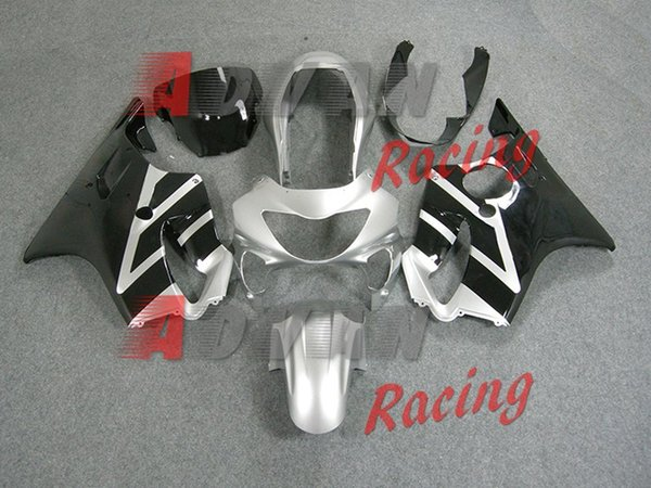 3Gifts New Injection Mold ABS motorcycle fairings kit fit for Honda CBR600F4 CBR 600 FS F4 1999 2000 99 00 Fairing set custom silver black