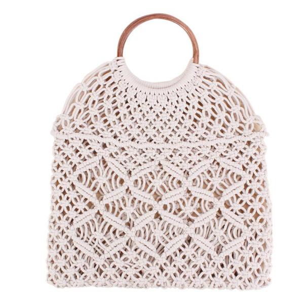 Ротанга хлопок веревка полые соломы тканая пляжная сумка без подкладки сумка для хранения модные женские сумки модные сумки на ремне