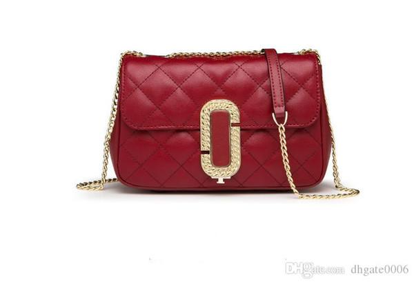 heißer Verkaufsqualitäts Leder schwarz rote Farbe Kette heißer Verkauf neue Frauen Taschen Handtaschen Schultertaschen, sehr schöne Tasche