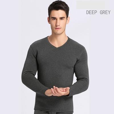 V collo grigio scuro