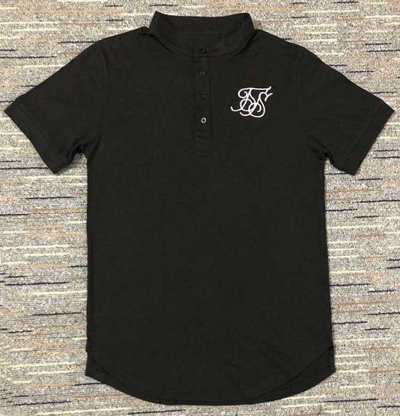 mens ss sik silk brand designer casual tshirts summer male stand collar tees short sleeve  shirts