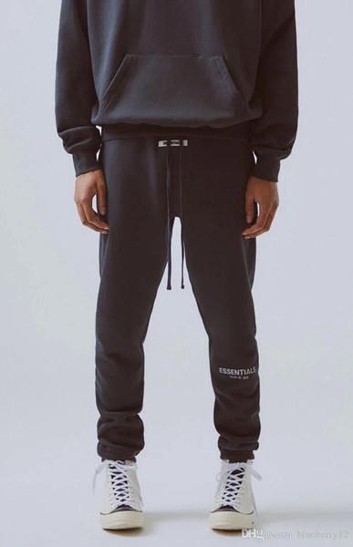 top popular Fear of God Mens Designer Pants 19FW Essentials High Street Pants for Men FOG Reflective Sweatpants Mens Branded Hip Hop Streetwear 2020