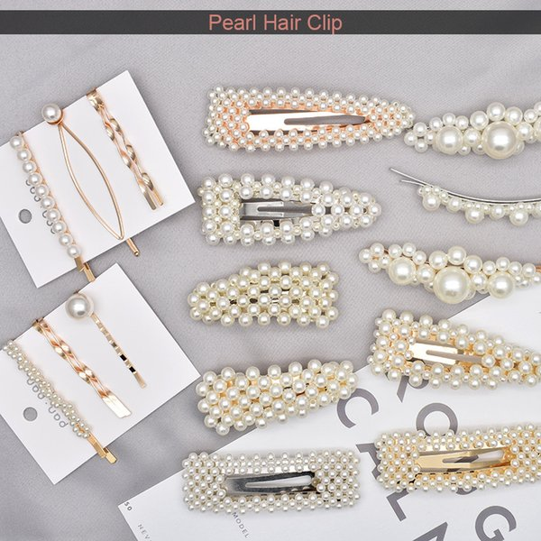 91b2c28227 Perla Pinza de Pelo 2019 Moda Corea Geométrica Irregular Accesorios de Oro  Pin Hairgrip Dropship sombreros