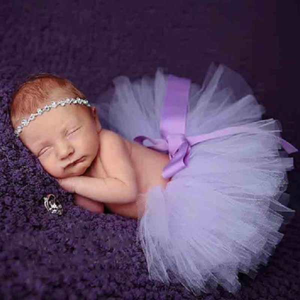 Newborn Baby Girl Skirt Kids Designer Skirt Girl Mesh Solid Color Photography Half Body Irregular Tutu Skirt 49