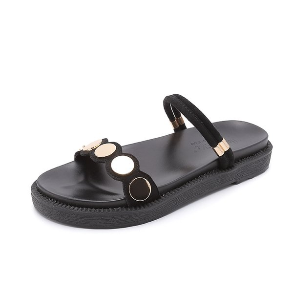 Women Open Toe Sandals Girls Casual Walking Slippers Fashion Beach Shoes Soft Silp On Platform Shoes FX25