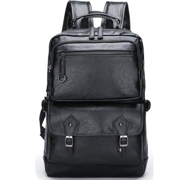 best selling Stylish casual men's backpack large-capacity computer backpack multi-layer space lightening design