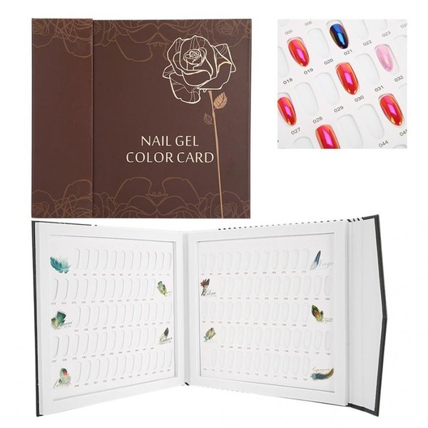 120 Farben Nail Gel Color Card Nagellack Display Chart Buchkunst zeigt Regal Display